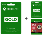 Microsoft 3M Gold Live + 3M Gold Live + 1000 Apex Coins