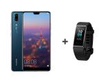Huawei P20 Dual SIM 64GB Niebieski + Band 3 Pro czarny (Emily - Blue + Terra-B19 BLACK)