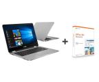 "Notebook / Laptop 14,1"" ASUS VivoBook Flip TP401MA N4000/4GB/64+240/W10+Office"