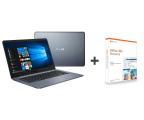 "Notebook / Laptop 14,1"" ASUS VivoBook E406MA N4000/4GB/64/Win10+Office Szary"