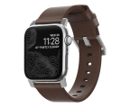 Nomad Pasek Skórzany do Apple Watch 42/44mm Brown Silver (NM1A4RSM00)
