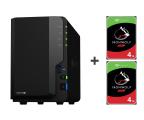 Synology DS218+ 8TB (2xHDD, 2x2-2.5GHz, 2GB, 3xUSB, 1xLAN)  (DS218+ (w zestawie 2xST4000VN008))