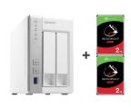 QNAP TS-231P 4TB (2xHDD, 2x1.7GHz, 1GB, 3xUSB, 2xLAN) (TS-231P (w zestawie 2xST2000VN004))