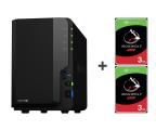 Synology DS218+ 6TB (2xHDD, 2x2-2.5GHz, 2GB, 3xUSB, 1xLAN)  (DS218+ (w zestawie 2xST3000VN007))
