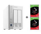 QNAP TS-231P 2TB (2xHDD, 2x1.7GHz, 1GB, 3xUSB, 2xLAN) (TS-231P (w zestawie 2xST1000VN002))