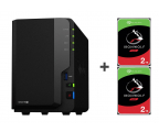 Synology DS218+ 4TB (2xHDD, 2x2-2.5GHz, 2GB, 3xUSB, 1xLAN)  (DS218+ (w zestawie 2xST2000VN004))