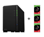 Synology DS218play 6TB (2xHDD, 4x1.4GHz, 1GB, 2xUSB, 1xLAN) (DS218play (w zestawie 2xST3000VN007))