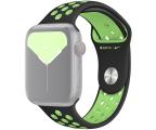 Apple Pasek Sportowy Nike do Apple Watch czarny/limetka  (MXR02ZM/A)
