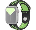 Apple Pasek Sportowy Nike do Apple Watch czarny/limetka (MXQW2ZM/A)