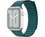 Apple Opaska Skórzana do Apple Watch pawie pióro (MXPN2ZM/A)