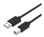 Unitek Kabel USB 2.0 - USB-B 2m (do drukarki) (Y-C4001GBK)