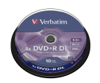 Verbatim 8.5GB 8x Double Layer CAKE 10szt. (43666)