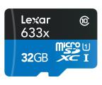 Lexar 32GB microSDHC 633x 95MB/s + adapter (LSDMI32GBBEU633A)