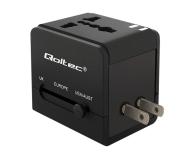 Qoltec Uniwersalny adapter podróżny 10,5 W 5V 2.1A - 385350 - zdjęcie 3