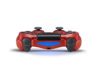 Sony Kontroler PS 4 DualShock 4 Translucent Red V2 - 386450 - zdjęcie 2