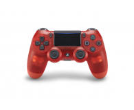 Sony Kontroler PS 4 DualShock 4 Translucent Red V2 - 386450 - zdjęcie 1