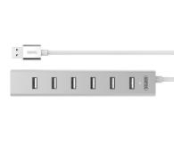 Unitek Aluminiowy Hub 7x USB 2.0 + zasilacz - 399628 - zdjęcie 2