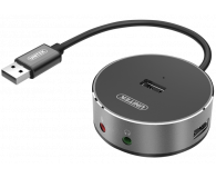 Unitek HUB 3x USB 2.0 + Audio  - 369890 - zdjęcie 1