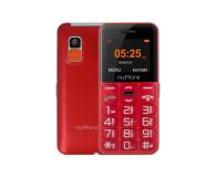 myPhone Halo EASY czerwony - 373255 - zdjęcie 1