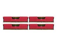 Corsair 16GB 2666MHz Vengeance LPX Red CL16 (4x4GB) - 213367 - zdjęcie 1
