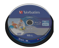 Verbatim 25GB X6 PRINTABLE DATALIFE (CAKE 10 szt ) - 377482 - zdjęcie 1
