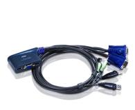 ATEN CS62U-A7 USB + VGA + audio (2 komputery) 1,8m - 29890 - zdjęcie 1