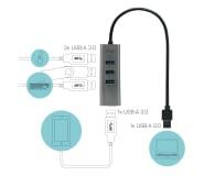 i-tec Metalowy HUB 4 x USB 3.0 - 456375 - zdjęcie 3