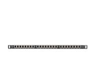 """Lanberg Patchpanel 24p 19"""" 0,5U FTP 5e półka (czarna)  - 457238 - zdjęcie 3"""