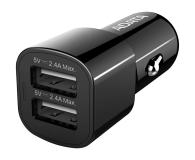 ADATA Ładowarka Samochodowa USB 2x2,4A 17W czarny - 458273 - zdjęcie 1