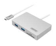 Unitek HUB USB-C - 3x USB 3.0 + czytnik kart + PD - 459532 - zdjęcie 1