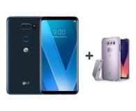 LG V30 niebieski + etui Ringke Fusion Crystal View - 454025 - zdjęcie 1