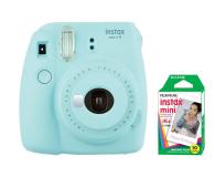 Fujifilm Instax Mini 9 niebieski + wkład 10 zdjęć  - 393607 - zdjęcie 1