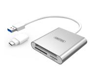 Unitek USB-C - SD, Micro SD, CompactFlash, RS-MMC - 460026 - zdjęcie 1