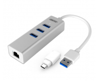 Unitek HUB USB-C - 3x USB 3.0 - Gigabit Ethernet - 460163 - zdjęcie 1