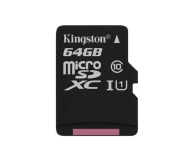 Kingston 64GB microSDXC Canvas Select 80MB/s C10 UHS-I  - 408959 - zdjęcie 1