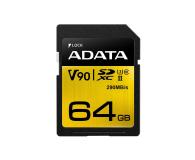 ADATA 64GB Premier ONE 290MB/s C10 UHS-II U3 - 408950 - zdjęcie 1