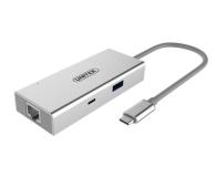 Unitek Adapter USB-C - HDMI, USB 3.0, USB-C, RJ-45 - 410492 - zdjęcie 1