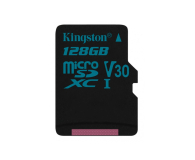 Kingston 128GB microSDXC Canvas Go! 90MB/s C10 UHS-I V30 - 410715 - zdjęcie 1