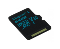Kingston 64GB microSDXC Canvas Go! 90MB/s C10 UHS-I V30 - 410714 - zdjęcie 3