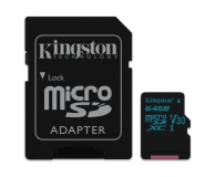 Kingston 64GB microSDXC Canvas Go! 90MB/s C10 UHS-I V30 - 410714 - zdjęcie 2