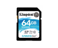 Kingston 64GB SDXC Canvas Go! 90MB/s C10 UHS-I U3  - 410718 - zdjęcie 1
