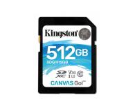 Kingston 512GB SDXC Canvas Go! 90MB/s C10 UHS-I U3  - 410721 - zdjęcie 1