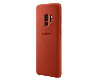 Samsung Alcantara Cover do Galaxy S9 Red - 405912 - zdjęcie 1