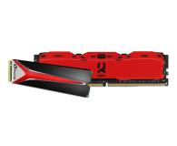 Plextor 256GB M.2 PCIe NVMe M8Pe + 8GB 3000MHz IRDM X RED - 415710 - zdjęcie 1