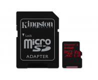 Kingston 64GB microSDXC Canvas React 100MB/s UHS-I V30 A1 - 415520 - zdjęcie 2