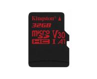 Kingston 32GB microSDHC Canvas React 100MB/s UHS-I V30 A1 - 415518 - zdjęcie 1