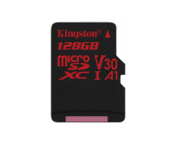 Kingston 128GB microSDXC Canvas React 100MB/s UHS-I V30 A1 - 415521 - zdjęcie 1