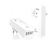 ICY BOX Ładowarka sieciowa 4 x USB 5A + gniazdo - 414599 - zdjęcie 1