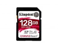 Kingston 128GB SDXC Canvas React 100MB/s C10 UHS-I U3 V30  - 415528 - zdjęcie 1