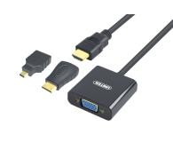 Unitek Adapter HDMI, mini HDMI, micro HDMI - VGA+audio - 417527 - zdjęcie 1